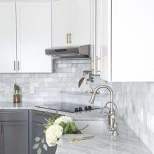 Лучший материал для кухонных столешниц 2020 - мрамор