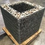 Габіон-квітник Куб гарячого цинкування, 500х500х500мм,вічко 100х50 мм