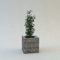 Габион-контейнер Куб для растений горячего цинкования 500х500х500мм, ячейка 100х50 мм