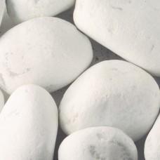 Мраморная галька белая Каррара 100-300 мм
