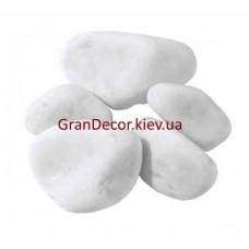 Природний камінь галька мармурова біла Каррара 40-60 мм.
