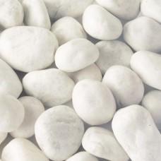 Мраморная галька белая Верона 25-40 мм