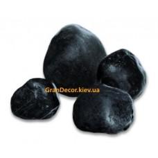Природный камень мраморная галька черная 40-60 мм