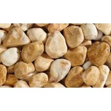 Натуральний камінь Мармурова галька жовта Морі 15-25 мм