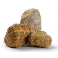 Натуральний камінь Мармурова галька жовта Морі 40-60 мм