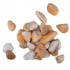Натуральний камінь Мармурова галька жовта Сієна 7-15 мм