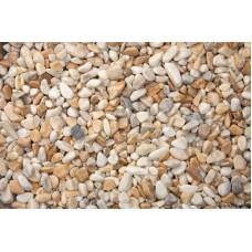 Натуральний камінь Мармурова галька жовта Сієна 4-8 мм