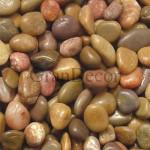 Мраморная галька полированная коричневая 40-80 мм