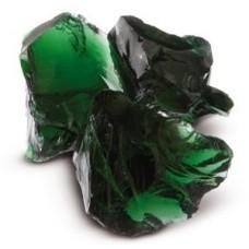Декоративный камень стеклянный зеленый
