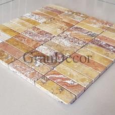 Декоративная мозаика  Антико из травертина