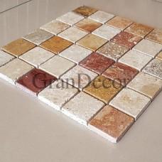 Декоративная мозаика  Колизей из травертина