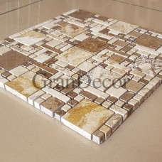 Декоративная мозаика  Леонардо да Винчи из травертина
