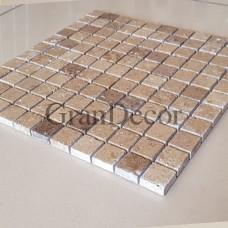 Декоративная мозаика  Марио из травертина, лист 1х30,5х30,5