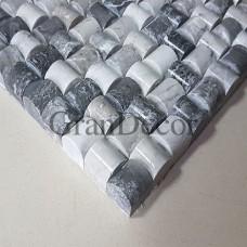 Декоративная мозаика из мрамора Silver Knight полированная