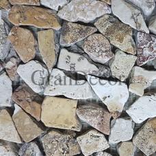 Декоративная мозаика Замок из травертина  30,5х30,5х1 см
