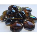 Декоративные камни стеклянные коричневые