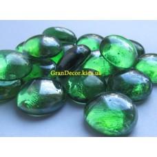 Стеклянные камни декоративные зеленые