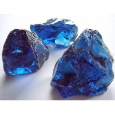 Камни стеклянные декоративные синие